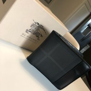 Men's Burberry Charcoal Wallet